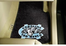 North Carolina Tarheels 2-Piece Carpeted Car Mats Front Set