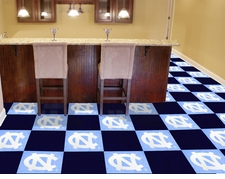 North Carolina Tarheels Carpet Tiles - 20 18x18 Square Tiles