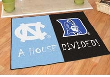 North Carolina Tarheels - Duke Blue Devils House Divided Floor Mat