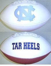 North Carolina Tarheels Full Size Signature Embroidered Football