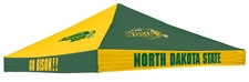North Dakota State Bison Green / Gold Checkerboard Logo Tent Replacement Canopy