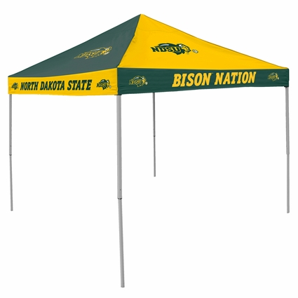 North Dakota State Bison Green / Yellow Checkerboard Logo Canopy Tailgate Tent