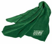 North Texas Mean Green Fleece Throw