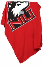 Northern Illinois Huskies Sweatshirt Blanket (Red)