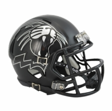 Northwestern Wildcats Black Cat Riddell Speed Mini Helmet