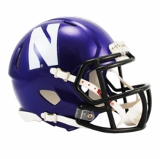Northwestern Wildcats Purple Riddell Speed Mini Helmet