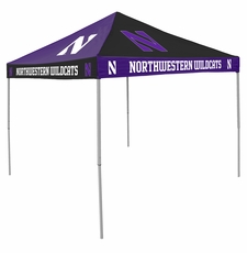 Northwestern Wildcats Purple / White Checkerboard Logo Canopy Tailgate Tent