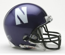 Northwestern Wildcats Riddell Replica Mini Helmet