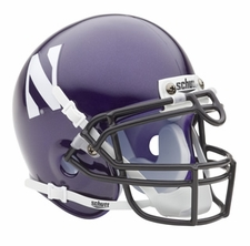 Northwestern Wildcats Purple Schutt Authentic Mini Helmet