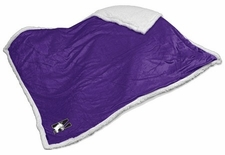 Northwestern Wildcats Sherpa Blanket