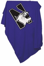 Northwestern Wildcats Sweatshirt Blanket