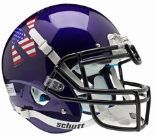 Northwestern Wildcats USA Flag N Schutt XP Authentic Helmet