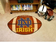 "Notre Dame Fighting Irish 22""x35"" ND Football Floor Mat"
