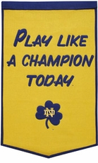 Notre Dame Fighting Irish 24 x 36 Dynasty Wool Banner - Play Like A Champion Today