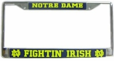 Notre Dame Fighting Irish Chrome License Plate Frame