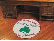 "Notre Dame Fighting Irish Clover 27"" Baseball Floor Mat"