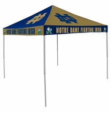 Notre Dame Fighting Irish Navy / Gold Checkerboard Logo Canopy Tailgate Tent
