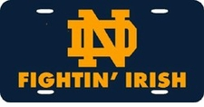 Notre Dame Fighting Irish Navy Laser Cut License Plate