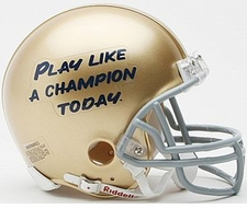 Notre Dame Fighting Irish Play Like A Champion Today  Riddell Replica Mini Helmet