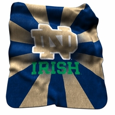 Notre Dame Fighting Irish Raschel Throw