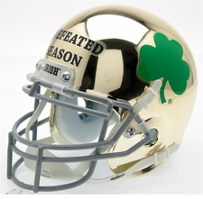 Notre Dame Fighting Irish Undefeated Season Schutt Authentic Mini Helmet