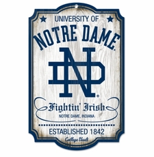 Notre Dame Fighting Irish Wood Sign - College Vault