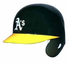 Oakland Athletics A's Left Flap Rawlings Authentic Batting Helmet