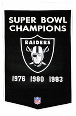 Oakland Raiders 24 x 36 Wool Dynasty Banner