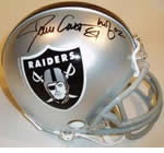 Oakland Raiders Autographed Football Gear