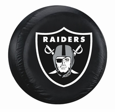 Oakland Raiders Black Large Spare Tire Cover