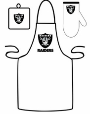 Oakland Raiders Cooking / Grilling Apron Set
