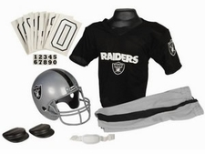 Oakland Raiders Deluxe Youth / Kids Football Uniform Set
