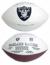 Oakland Raiders Embroidered Autograph Signature Series Football