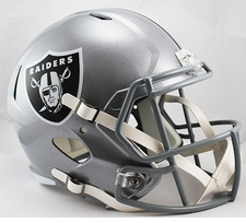 Oakland Raiders Full-Size Deluxe Replica Speed Helmet