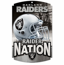 Oakland Raiders Wood Sign