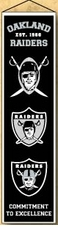 Oakland Raiders Wool 8x32 Heritage Banner