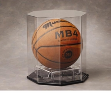 Octagon Full Size Basketball, Volleyball, or Soccer Ball Display Case