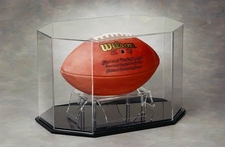 Octagon Full Size Football Display Case
