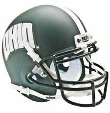 Ohio Bobcats Green Schutt Authentic Mini Helmet