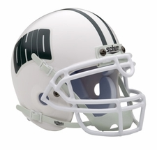 Ohio Bobcats White Schutt Authentic Mini Helmet