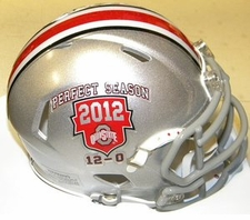 Ohio State Buckeyes 2012 Perfect Season Riddell Speed Mini Helmet