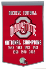 Ohio State Buckeyes 24 x 36 Football Dynasty Wool Banner