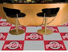 Ohio State Buckeyes Carpet Tiles - 20 18x18 Square Tiles