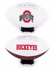 Ohio State Buckeyes Full Size Signature Embroidered Football