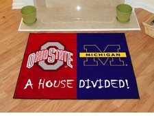 Ohio State Buckeyes - Michigan Wolverines House Divided Floor Mat