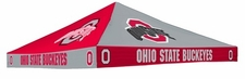 Ohio State Buckeyes Red / Grey Checkerboard Logo Tent Replacement Canopy