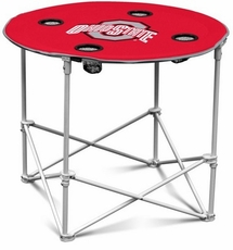 Ohio State Buckeyes Round Tailgate Table