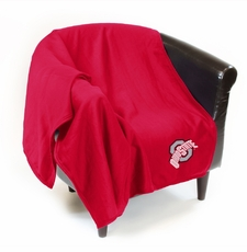 Ohio State Buckeyes Sweatshirt Throw Blanket