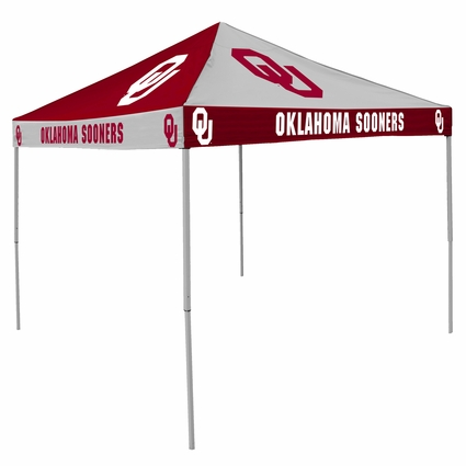 Oklahoma Sooners Red / White Checkerboard Logo Canopy Tailgate Tent