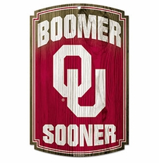 Oklahoma Sooners Wood Sign
